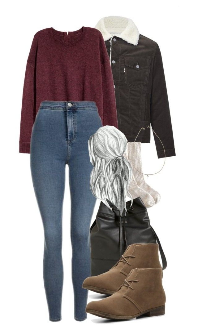 stefan inspired winter school outfit by tvdstyleblog on Polyvore featuring polyvore fashion style Maison Kitsuné Topshop J.Crew Madden Girl Element Brandy Melville clothing