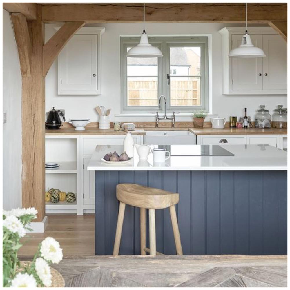 4 Ways To Use Navy Blue In Your Kitchen Big Chill Kitchen Interior Cottage Style Kitchen Cottage Kitchen Design
