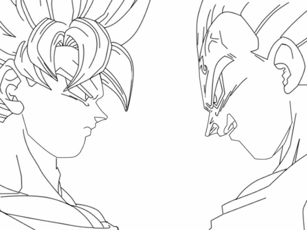 dragon ball z free coloring pages printable - Goku Printable Coloring Pages