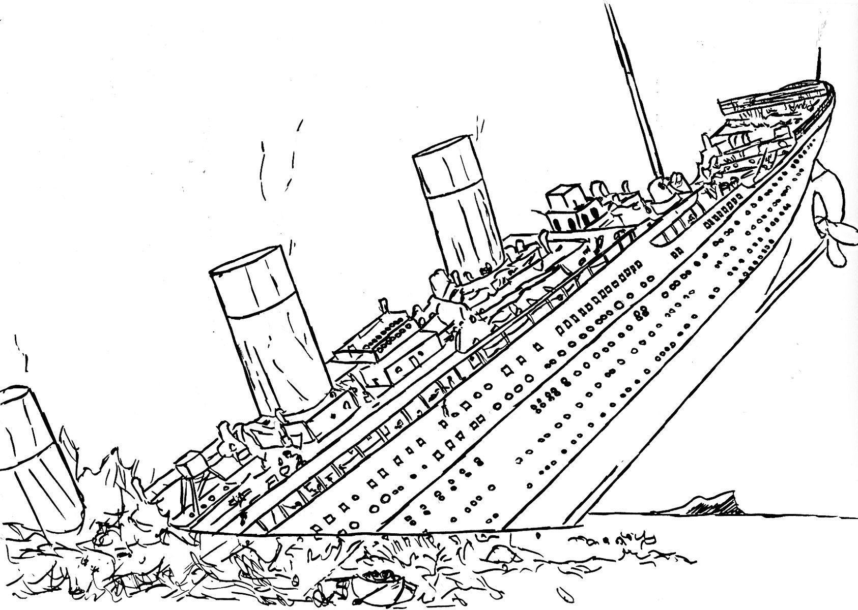 Titanic Sinking Coloring Pages Free To Print Educative Printable Coloring Pages Titanic Titanic Sinking