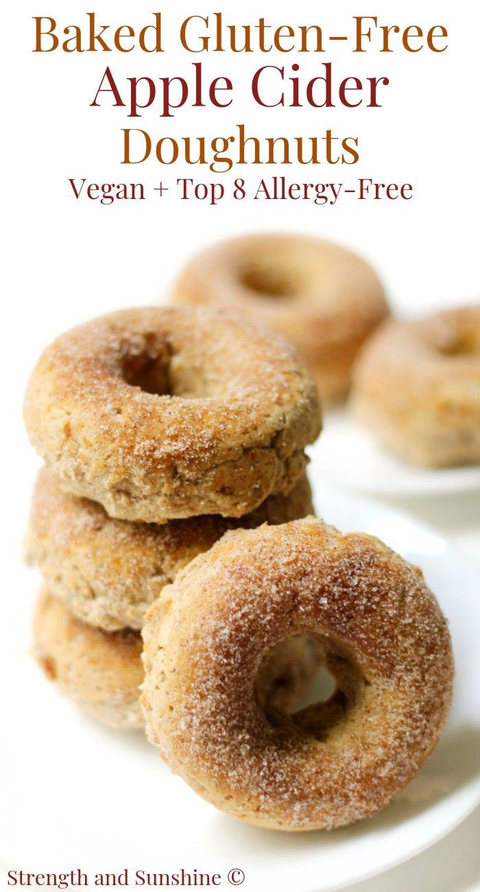 Baked Gluten Free Apple Cider Doughnuts Vegan Allergy Free Recipe Food Recipes Dessert Recipes Food