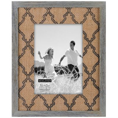 Found it at Wayfair - Burlap Mat Picture Frame | Living room ...