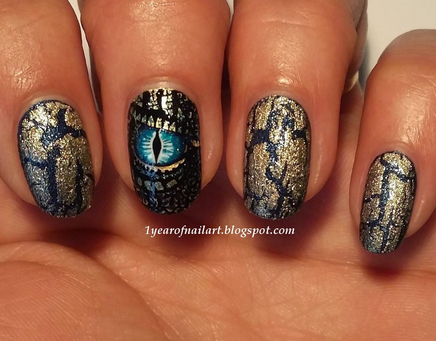 365 days of nail art : Dragon #nail #nails #nailart - 365 Days Of Nail Art : Dragon #nail #nails #nailart Nail Art