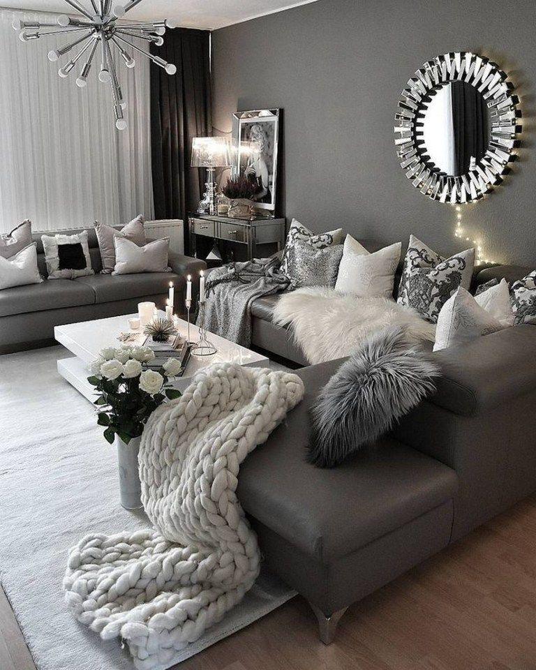 45 Neutral Living Room Ideas Earthy Gray Living Rooms To Copy 36 Cosy Living Room Living Room Decor Apartment Living Room Decor Cozy