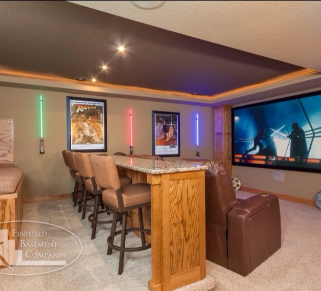 15 Awesome Basement Home Theater Cinema Room Ideas: Star Wars Media Room