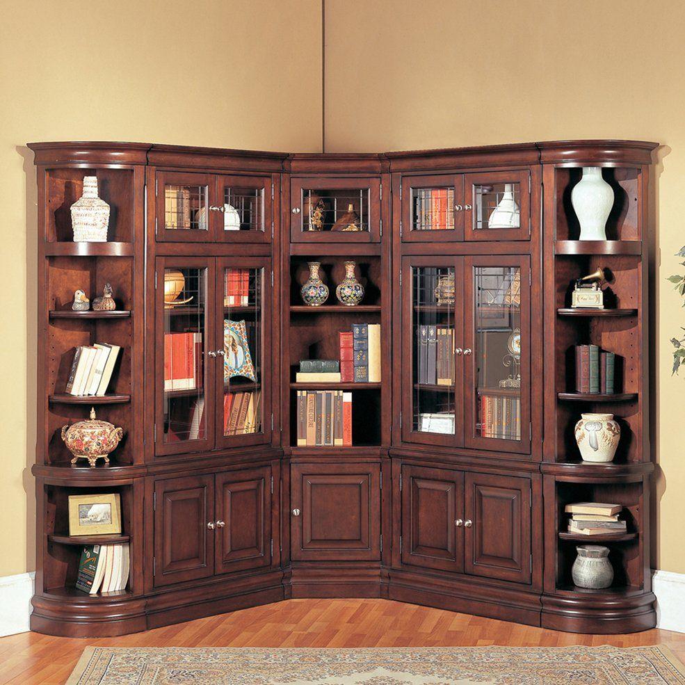 Parker House 5 Piece Sterling Library Corner Bookcase Espresso Home Furniture Showroom