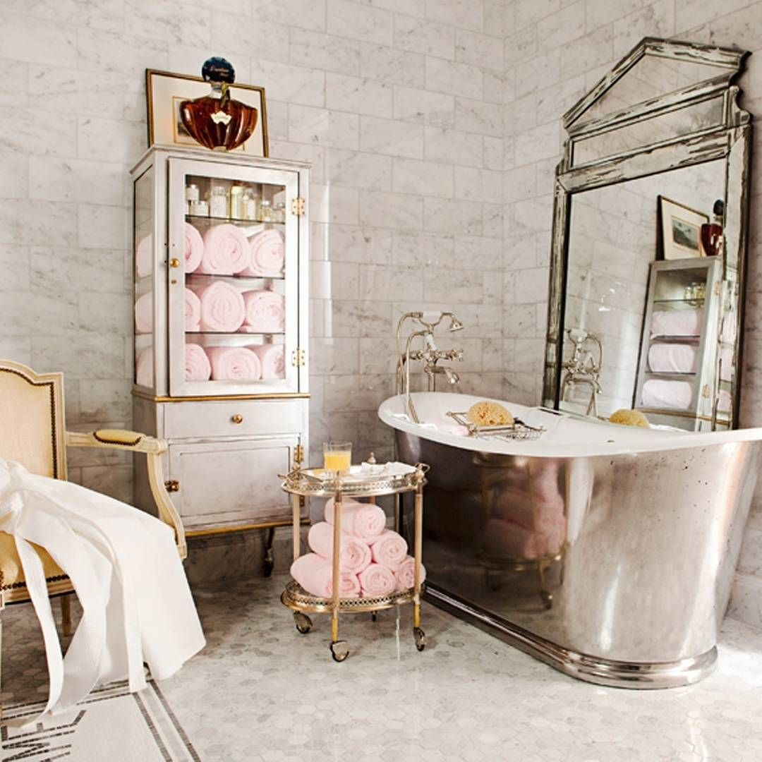 Just another gorgeous picture The French Bedroom Company are loving on Instagram: Yes please. #bathroomdecor #relax  (Photo by Nathan Schroder design by Betty Lou Phillips) by housebeautiful
