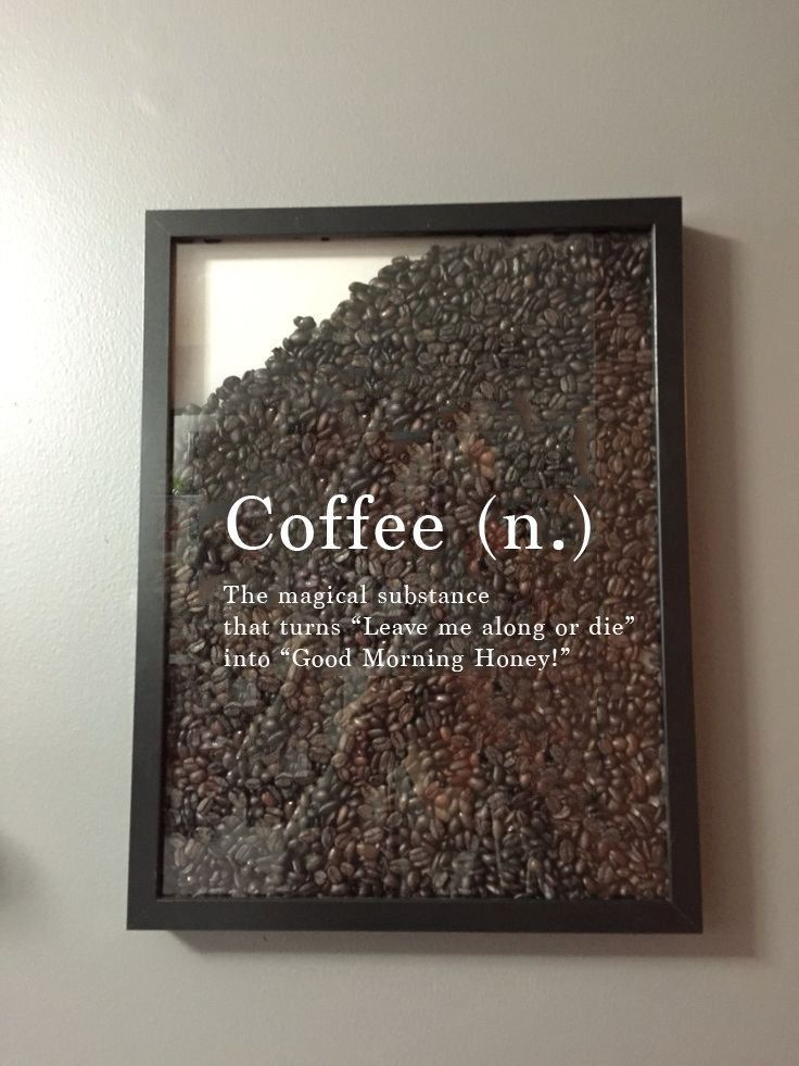 Coffee (n.) Coffee Lover Coffee Quote Vinyl Sticker Decal / Sticker – Shadow boxes and more – Wall Quote – Einrichtungsstil