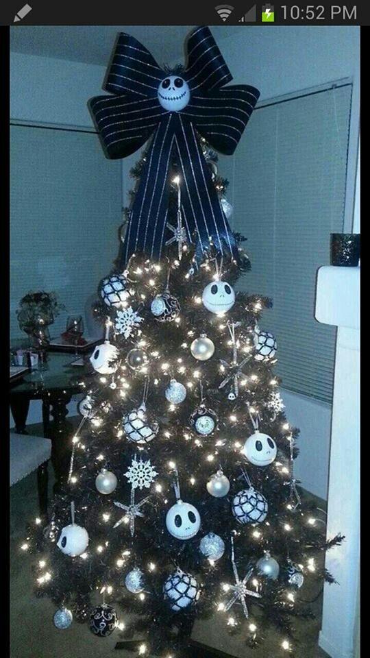 Nightmare Before Christmas Tree   Para navidad   Pinterest   Basteln