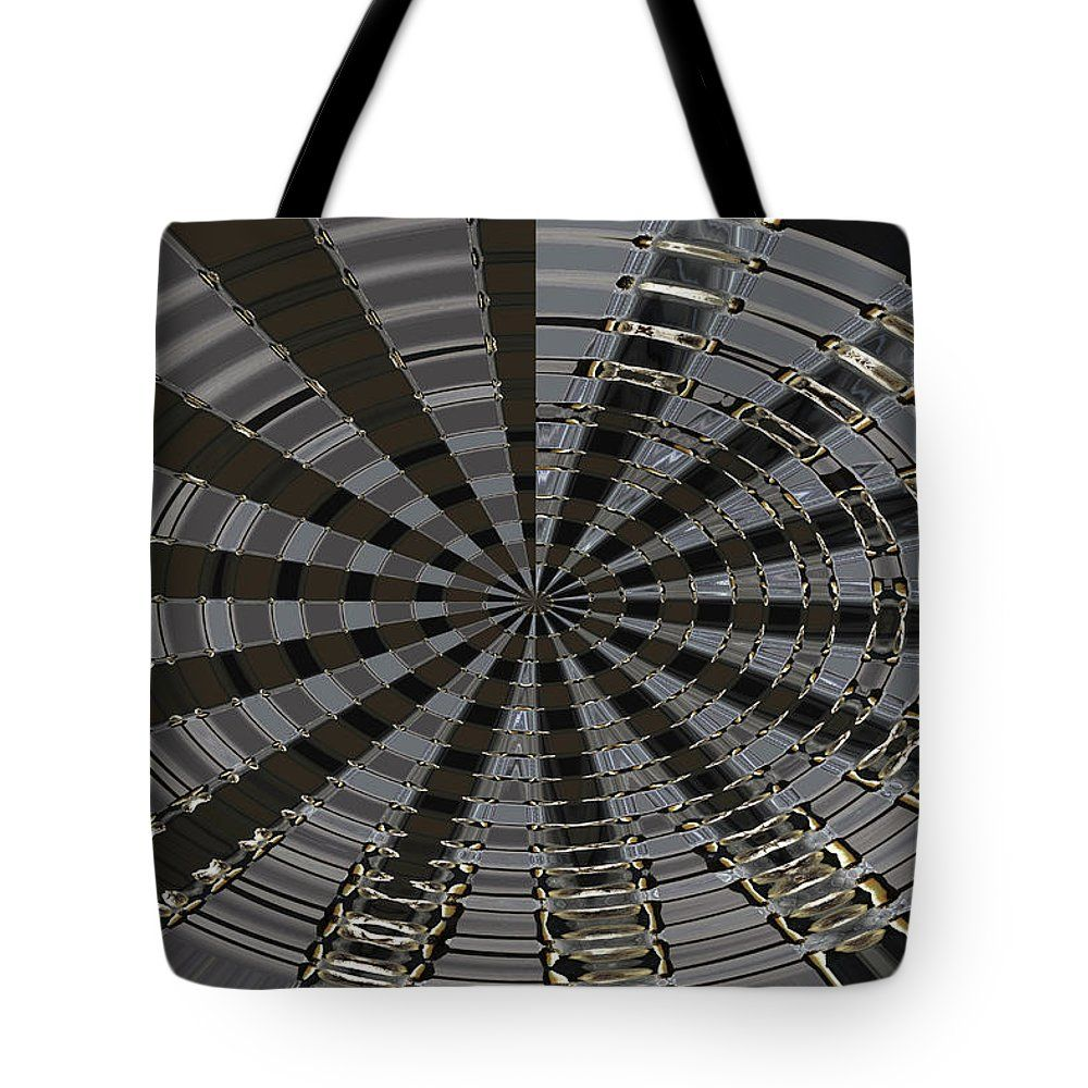 Puffball And Stinkhorn Fungi Abstract Tote Bag featuring the digital art Puffball And Stinkhorn Fungi Abstract by Tom Janca