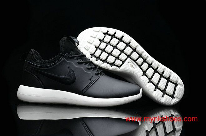 new product 14bfd 58fb1 2017 Nike Lab Roshe Two Leather PRM Black White Bottom Shoes ...