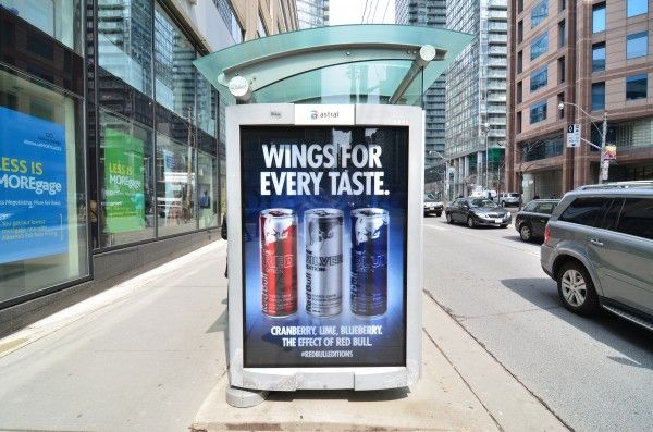 RED BULL PROMOTES ITS NEW LINE OF BEVERAGES CALLED EDITIONS! - http://www.faceadblog.com/en/red-bull-promotes-its-new-line-of-beverages-called-editions #BusStop #OutdoorAdvertising