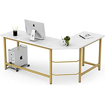 Amazon Com Tribesigns Computer Desk 55 Inch Large Office Desk Computer Table Study Writing Des Computer Desks For Home Large Office Desk Modern L Shaped Desk