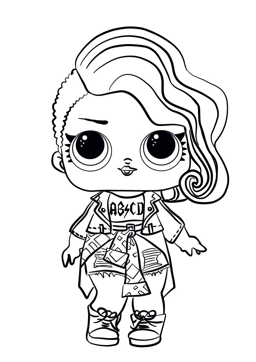 Lol Surprise Doll Coloring Pages Rocker Coloring Kids Pages Lol
