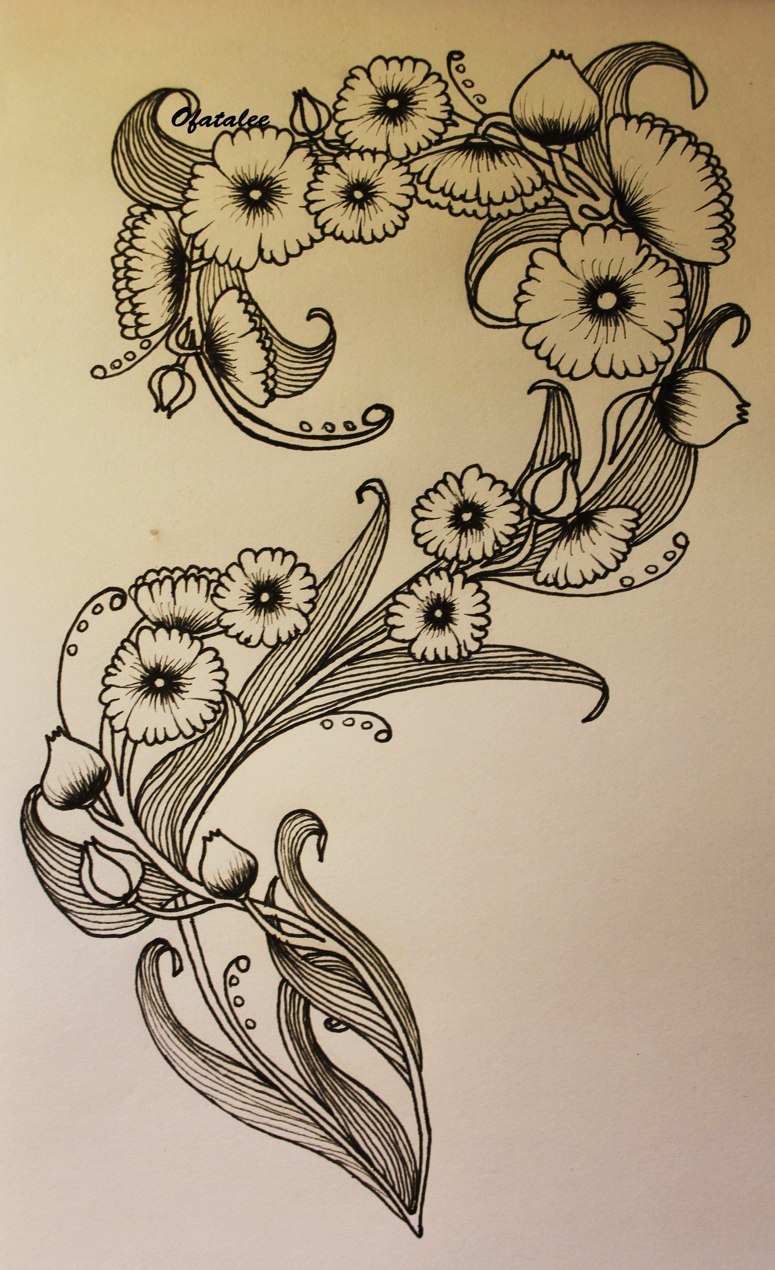 Art nouveau flower tattoo ofatalee artworks pinterest - Art deco and art nouveau ...