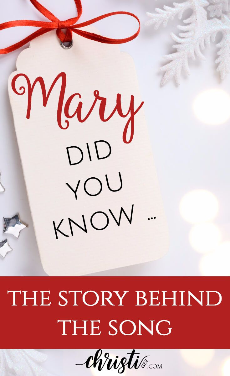 What You Might Not Know About Mary Did You Know Christi Gee Christmas Devotional Christmas Bible Christian Christmas Songs