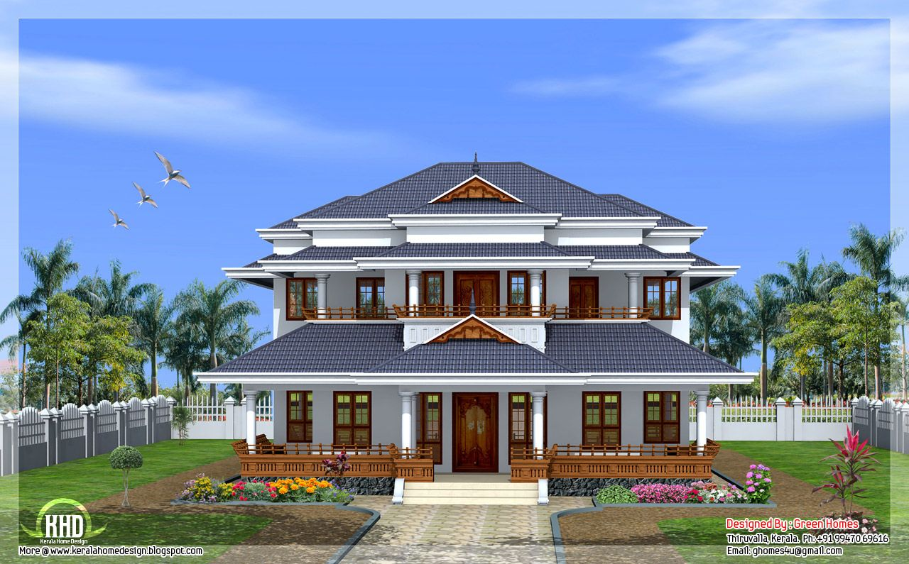 Traditional House Plans | Traditional Vastu Based Home Design By Green Homes  Thiruvalla Kerala