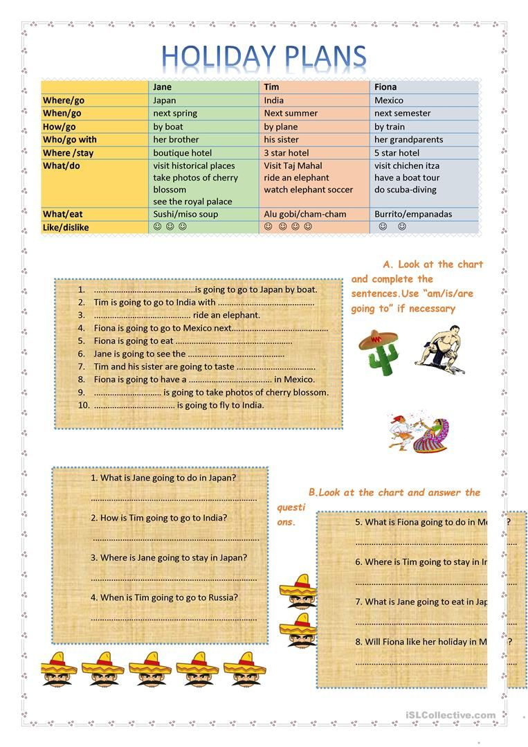 Future Plans With Be Going To Worksheet Free Esl Printable Worksheets Made By Teachers Simple Past Tense English Lesson Plans How To Plan