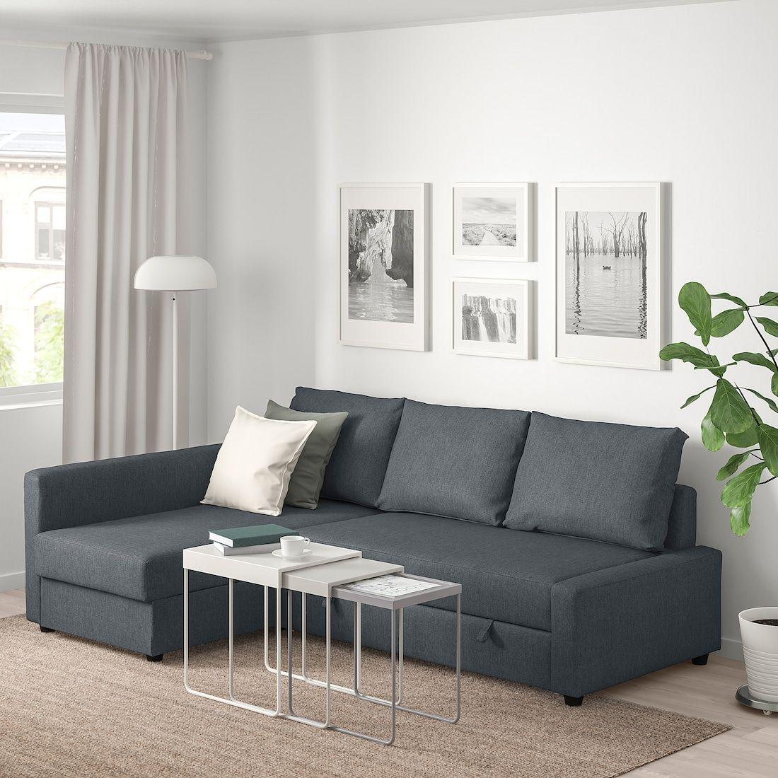 Friheten Sleeper Sectional 3 Seat W Storage Hyllie Dark Gray Corner Sofa Bed With Storage Corner Sofa Bed Storage