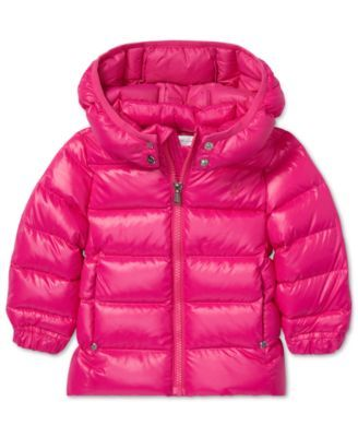 7bfff65b780b4 Polo Ralph Lauren Baby Girls Quilted Down Jacket - Active Pink 18 months