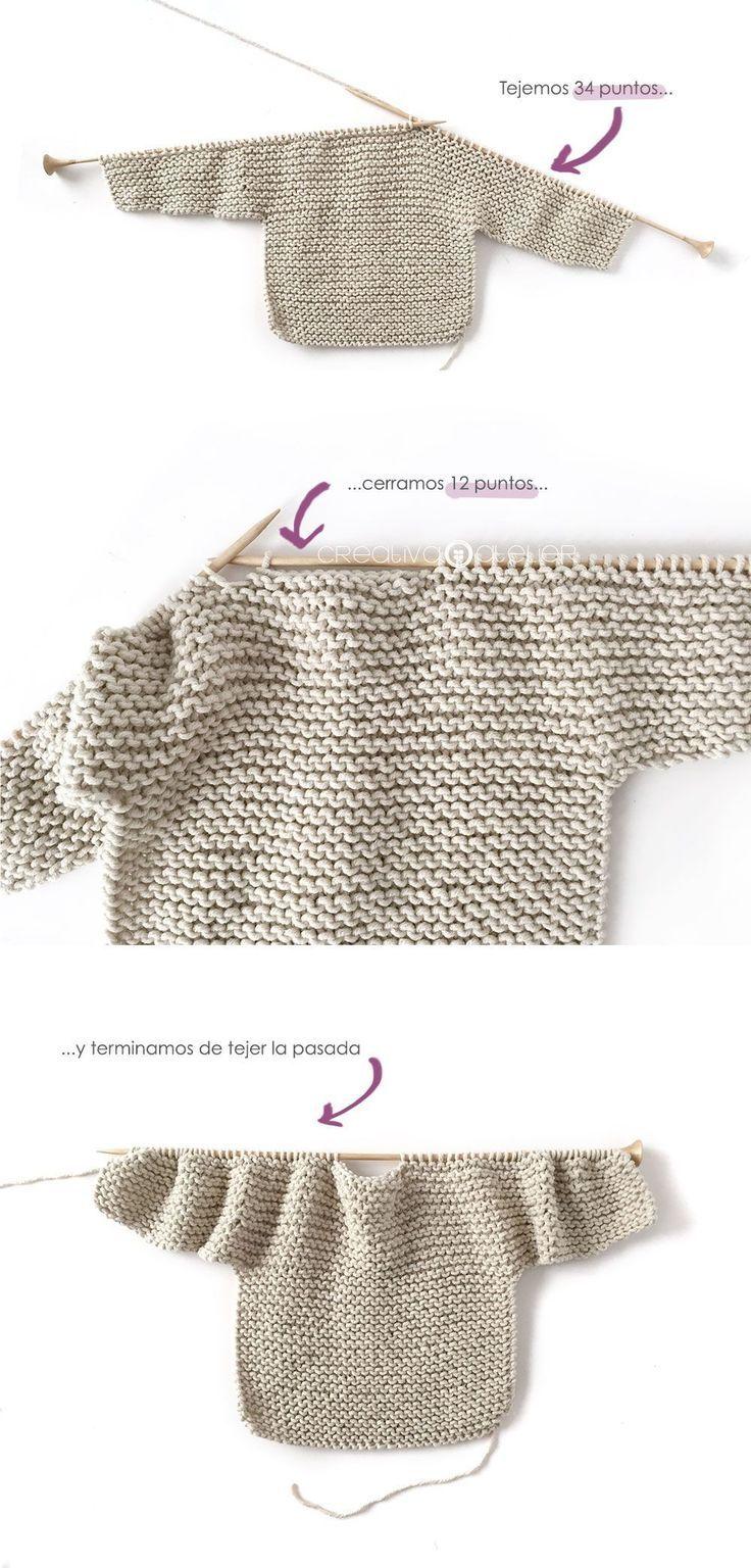 Kimono de Punto para Bebé [ Tutorial y Patrón GRATIS ] - #bebe #de ...