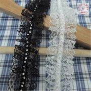 Lace beaded lace hand-beaded lace accessories Diamond lace skirt lace accessories