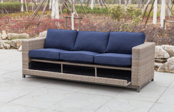 78 Sofa This Comfortable Outdoor Loveseat Is Made Of Sunbrella Fabric And Has Self Storing Cushions For Comfort And Ea Outdoor Sofa Outdoor Loveseat Outdoor