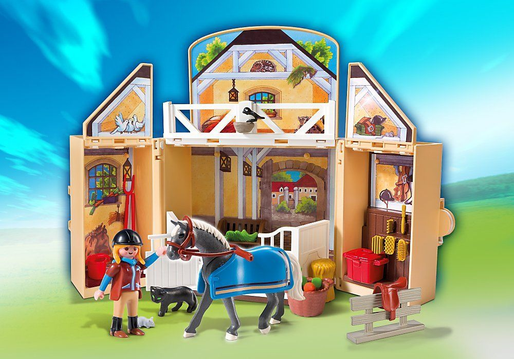 playmobil country 5418 jeu de construction ecurie transportable jeux et jouets. Black Bedroom Furniture Sets. Home Design Ideas