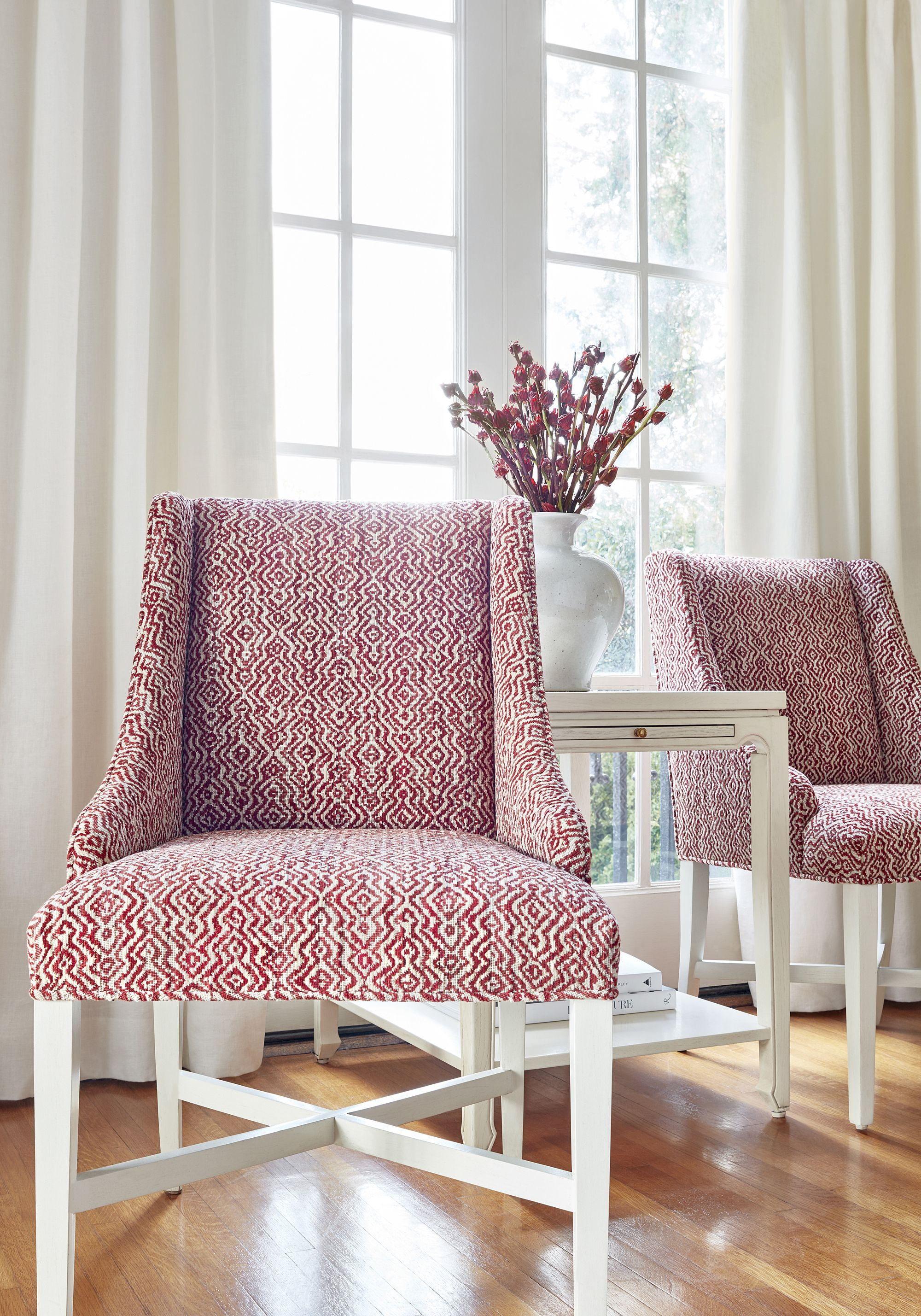 Hayden dining chair in anstasia woven fabric in cardinal from woven resource 11 rialto collection