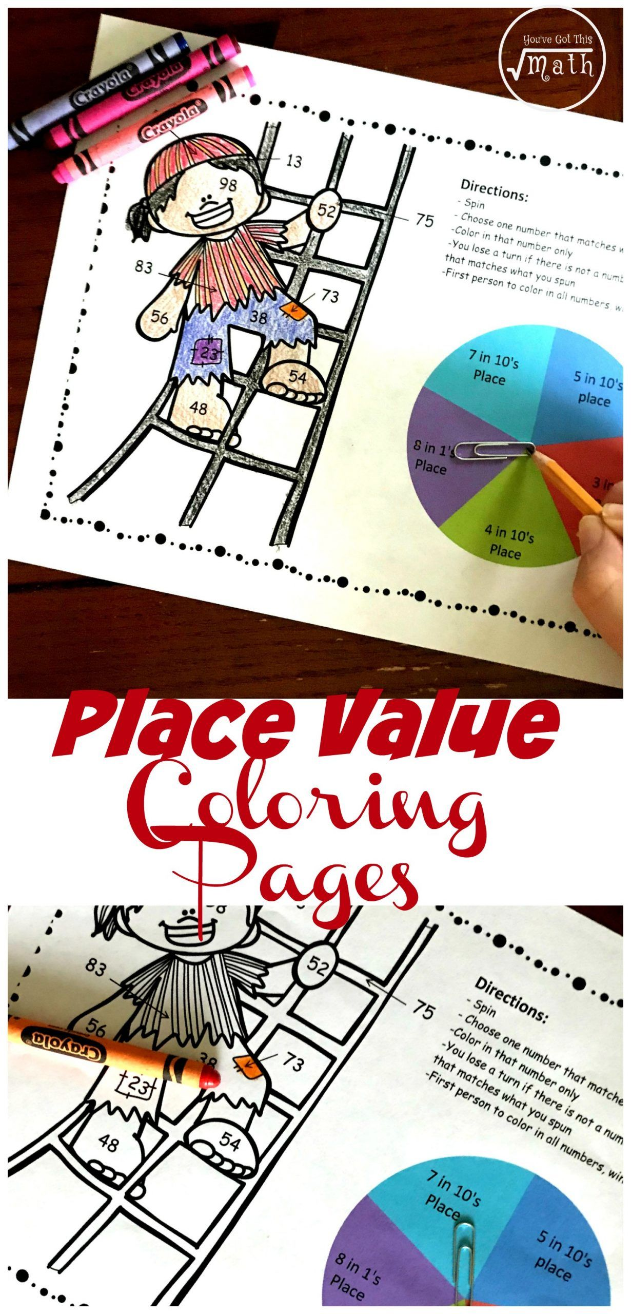 Place Value Coloring Worksheets A Fun Place Value Coloring Page To Practice The Value Digits In 2021 Place Values Color Worksheets Fun Education [ 2560 x 1230 Pixel ]