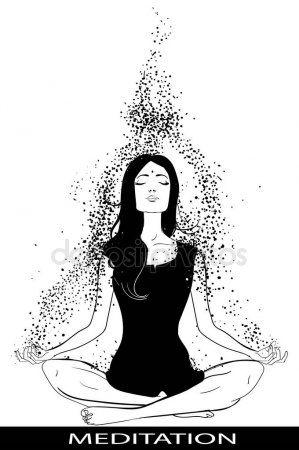 girl in lotus pose — stock illustration in 2020  lotus