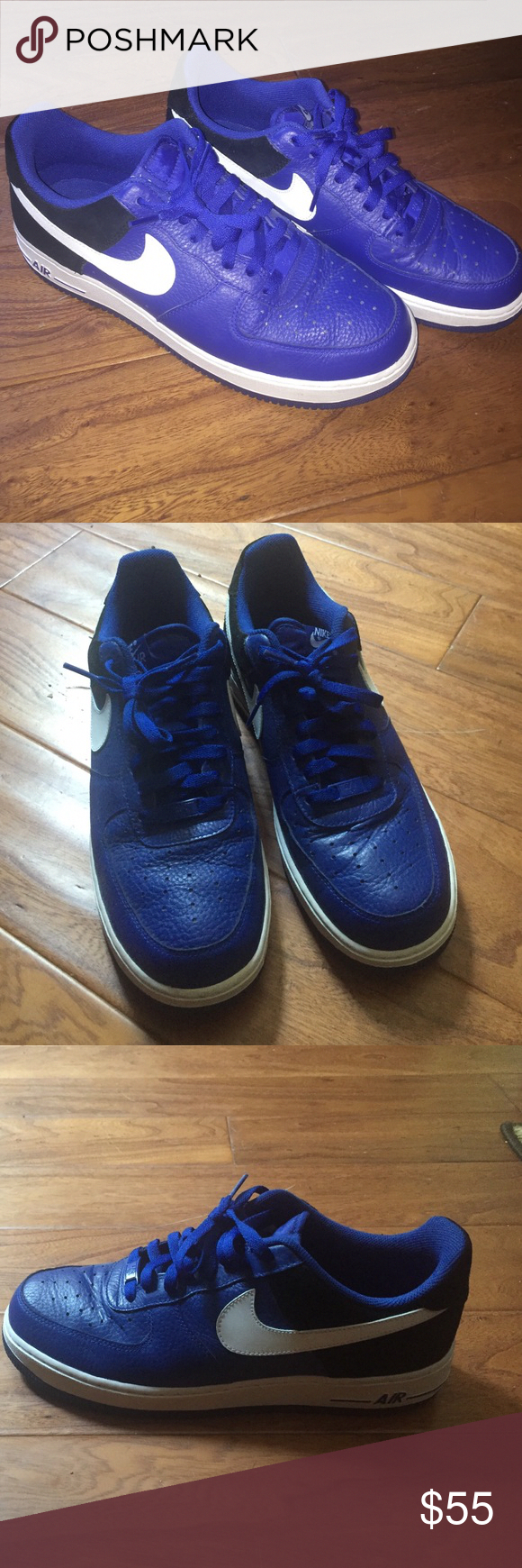 best sneakers 2a82d cb176 Nike Air Force 1 Low Brand new, never worn, blue, black, and white Nike Air  Force 1 low. Nike Shoes Sneakers  Ignite3WomensrunningShoes