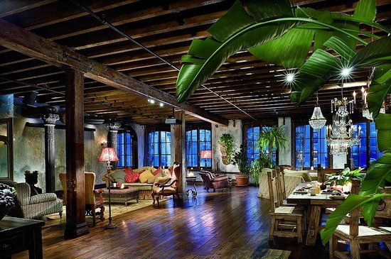 3,300-sq.ft Manhattan loft, which sits on the sixth and seventh floors of a converted manufacturing warehouse in Chelsea.