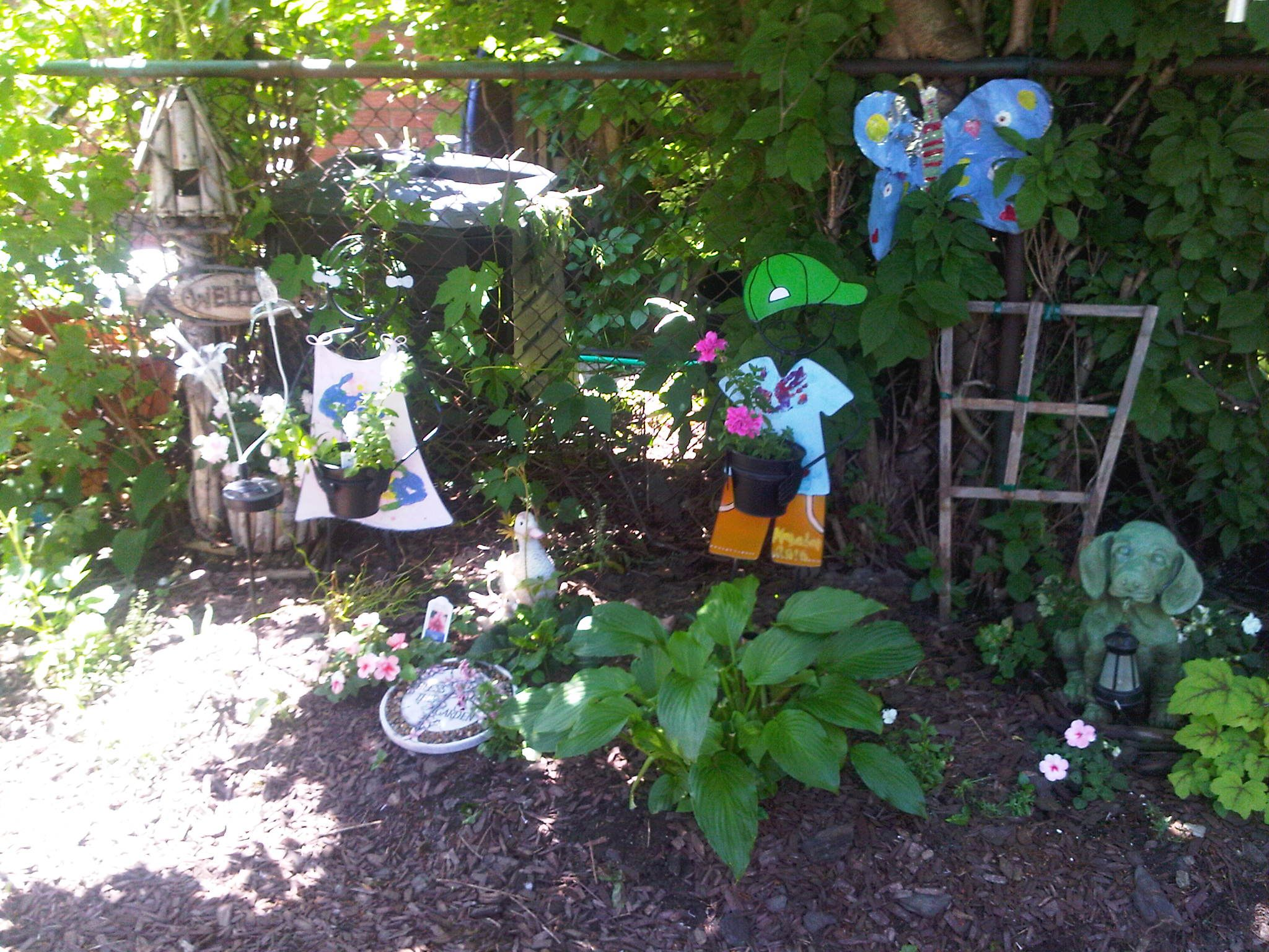 my grandchildrens garden in my backyard 2011 gardening
