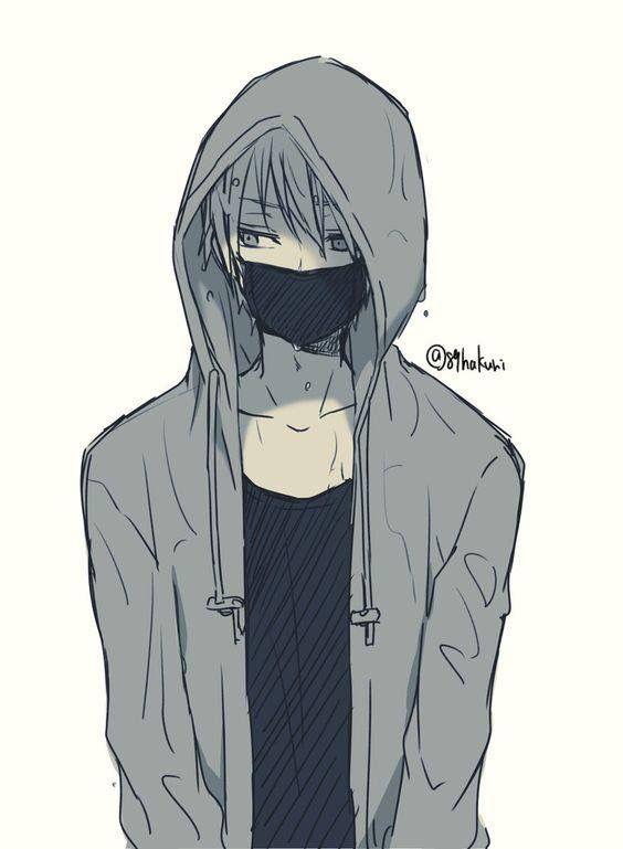 Anime Guy Art Casual Mask Hoodie Cute Anime Guys Anime Hoodie Cute Anime Boy