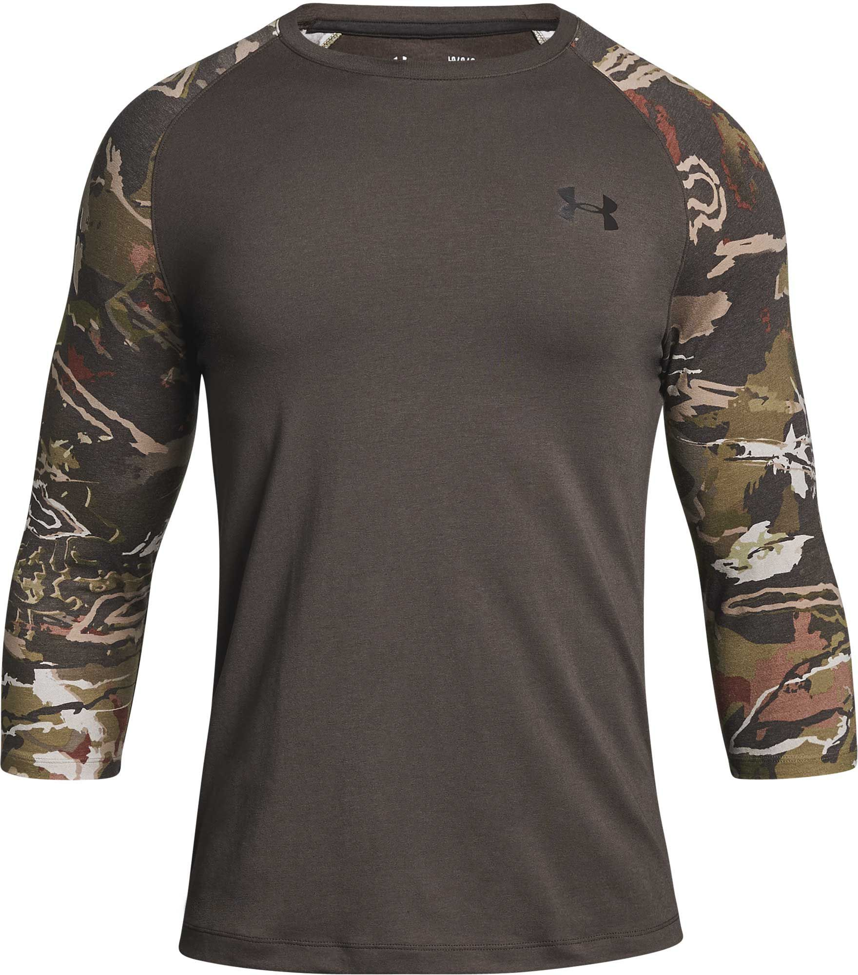 9af3a8a520d0c Under Armour Men's Ridge Reaper Hunting Long Sleeve Shirt, Size: Medium,  Brown