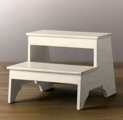 RH Baby U0026 Childu0027s Weathered Step Stool   White:Boost A Childu0026 Sense Of  Independence By Helping Them Reach The Sink, Counter, Tabletop Or Book  Shelf All On ...