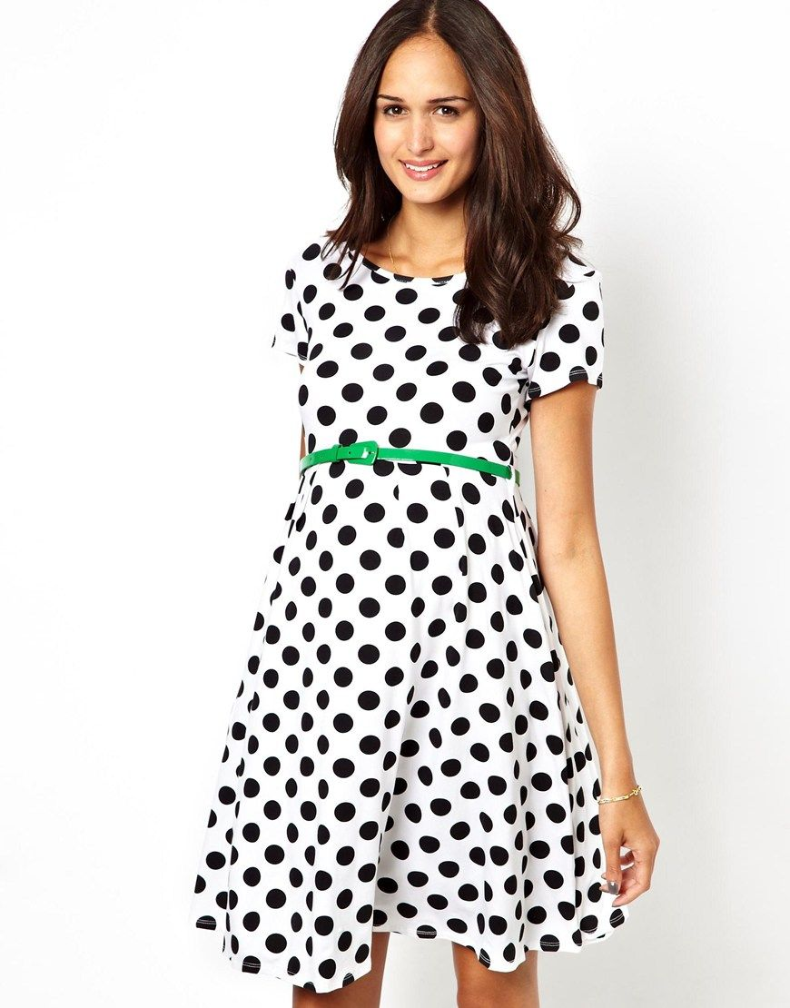Maternity dresses to wear to a wedding  ASOS Maternity  ASOS Maternity Exclusive Spot Skater Dress With
