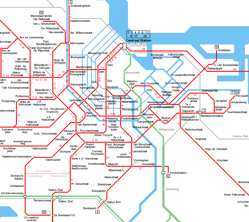 Amsterdam Tram Map Tis the season Pinterest Cruises