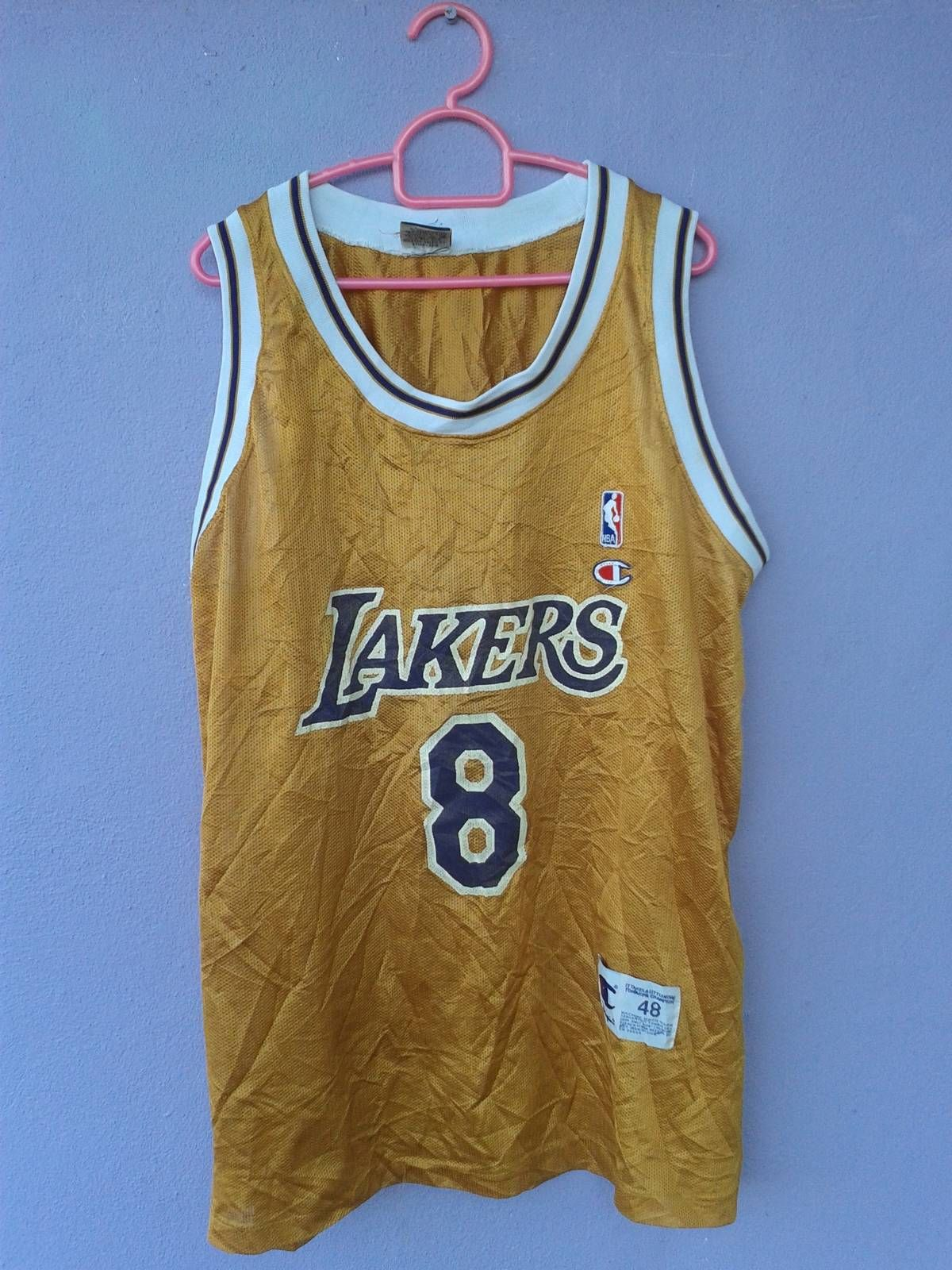 Searching for Very Rare GOLD Vintage Los Angeles Lakers NBA 8 kobe bryant  champion tank jersey f7a9074ab