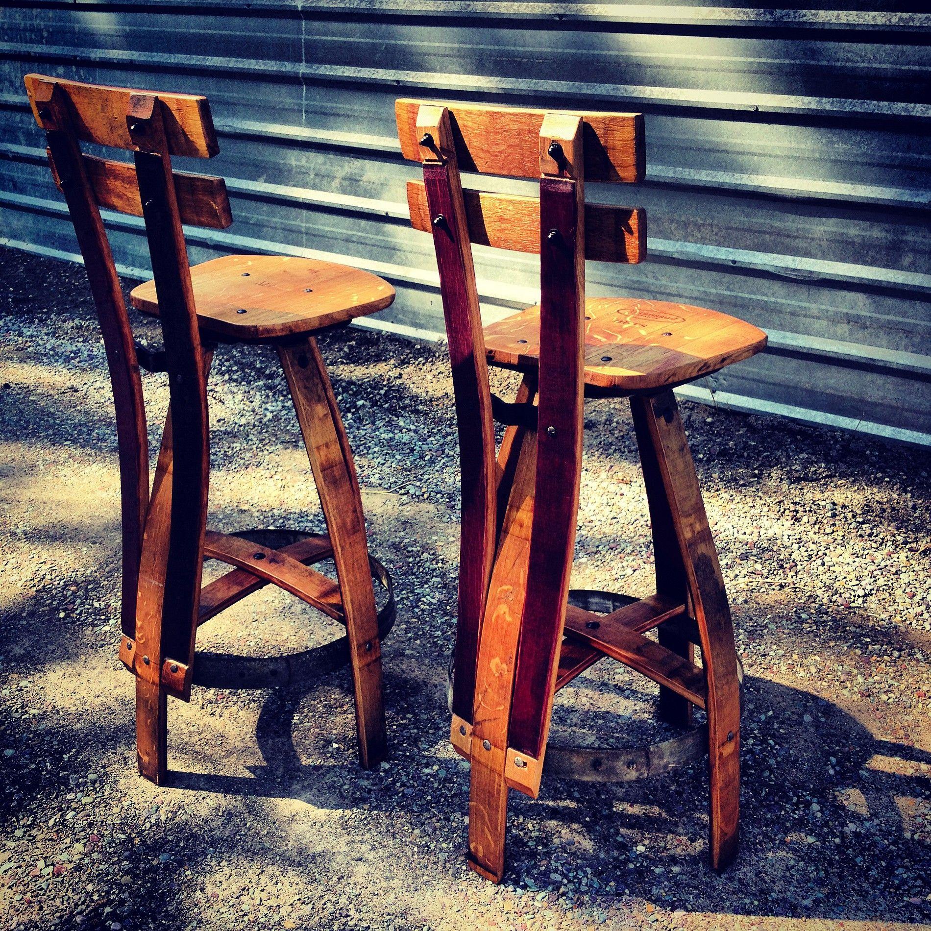 Reclaimed Furniture, Wine Barrel Barstools: Missoula, MT | THE VINOTURE  GALLERY