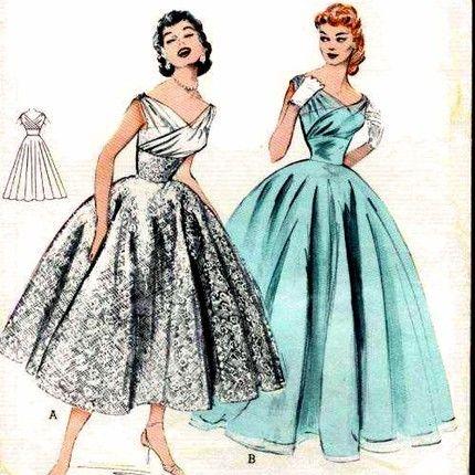 1950s Bridesmaid Dresses Full Circle Google Search Wedding Vintage Dress Patterns 1950 S Tea Length