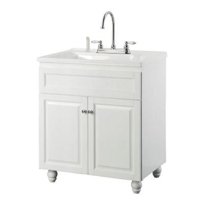 laundry sink cabinet foremost bramlea 30 in laundry vanity in white and 22539