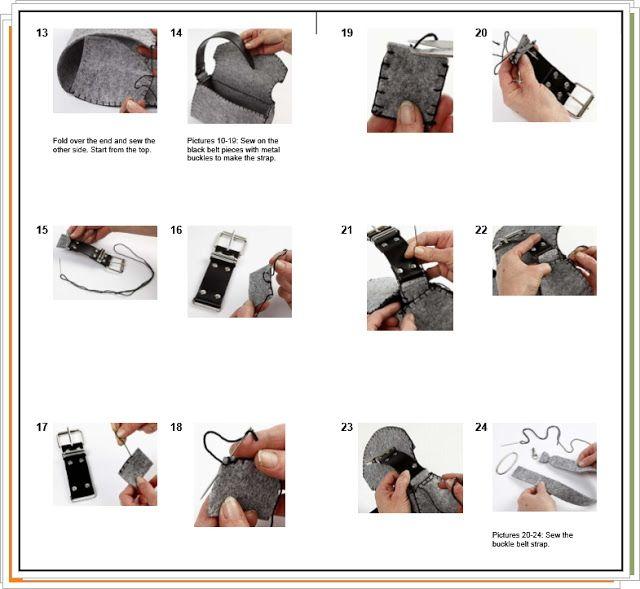 enrHedando: Como hacer un Mini Maletin-Bolso de Fieltro | gris ...