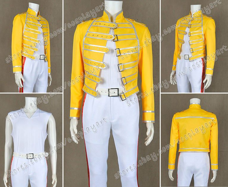 Queen Band Cosplay Lead Vocals Freddie Mercury Costume Fashionable Jacket  Cool