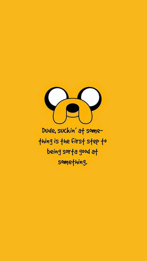 Awkbward Happy Jake Unter We Heart It Adventure Time Wallpaper Adventure Time Quotes Jake Adventure Time