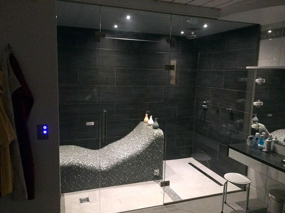 geflieste dampfdusche f r 2 personen dampfbad und dampfbadbau dampfdusche dusche dampfbad