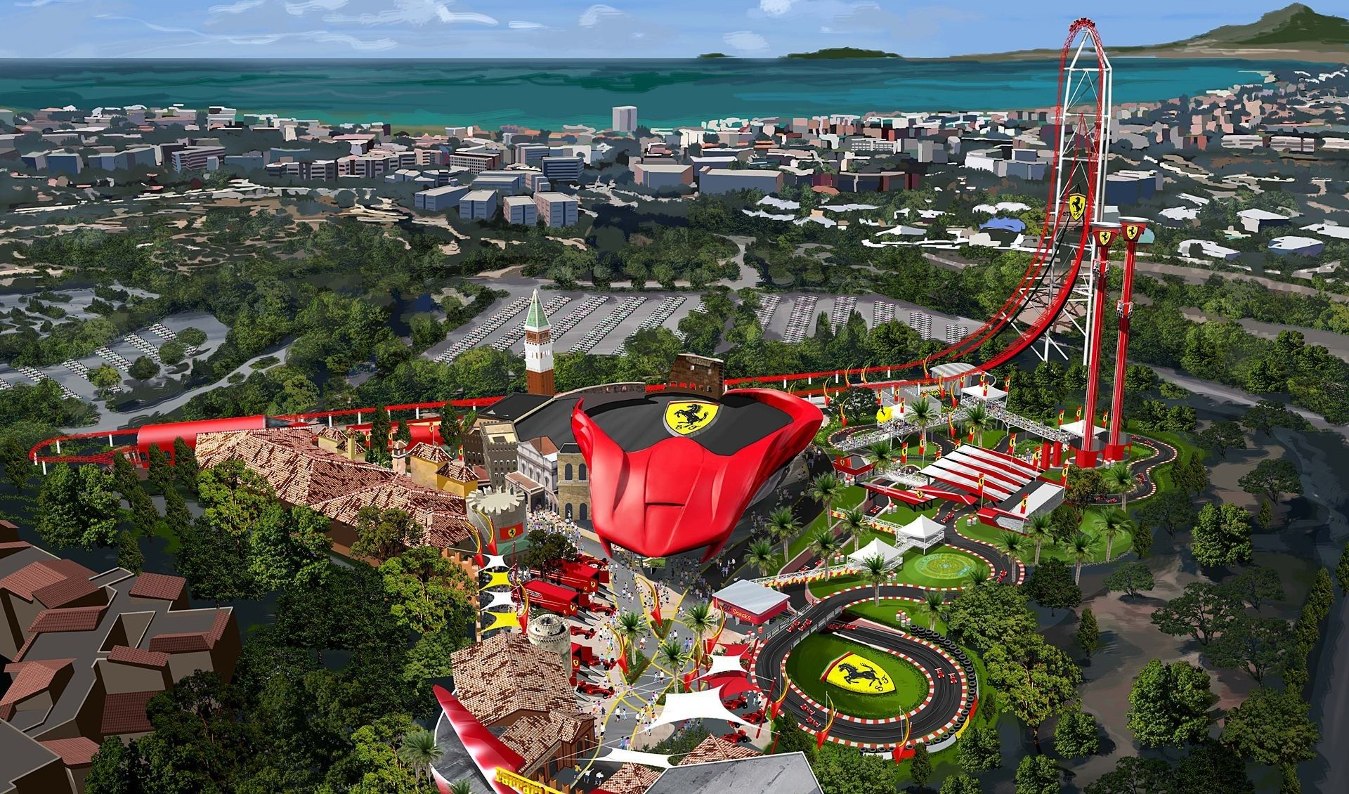 Spain's New Ferrari Land Is Disney World for Car Fanatics