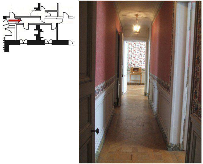 Second étage - Aile centrale - Appartement de la reine - 14 Couloir