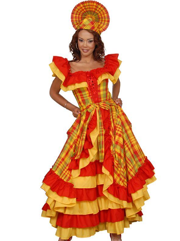 robe femme cr ole antillaise tenues traditionnelles robe robe traditionnelle et creoles. Black Bedroom Furniture Sets. Home Design Ideas
